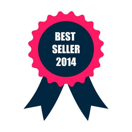 seller: best seller 2014 badge with ribbon
