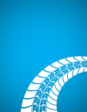 blue tire track background Vector