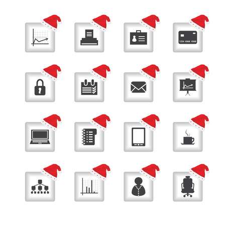 bankcard: special flat ui icons with Christmas design for web and mobile applications