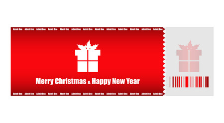 admit one Christmas ticket Vector
