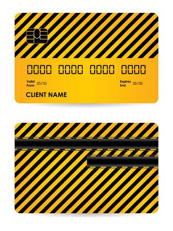 other keywords: Vector credit card illustration