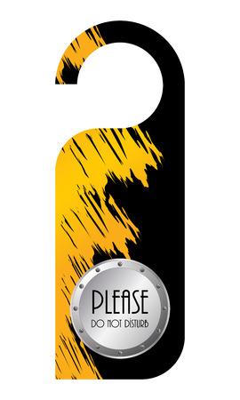 do not disturb: do not disturb door hanger Illustration