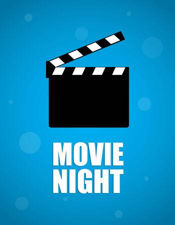 movie background: movie night background Illustration
