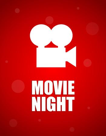 movie projector: movie night background Illustration