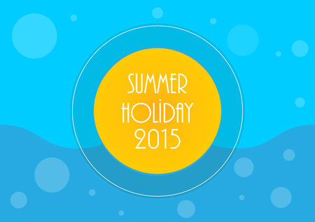 flair: Summer holiday background, Vector illustration, eps10