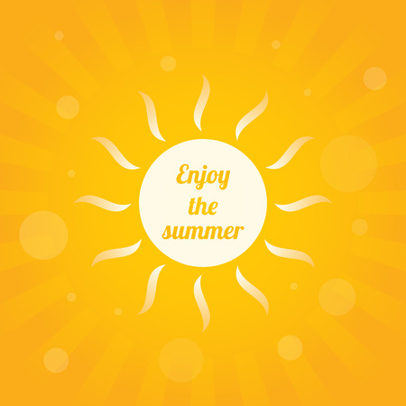 sun light: abstract yellow summer background, vector illustration, eps10