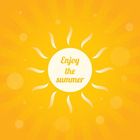 rayos de sol: amarillo resumen de antecedentes de verano, ilustración vectorial, eps10