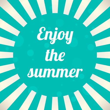 rise and shine: enjoy the summer background, vector illustration, eps10