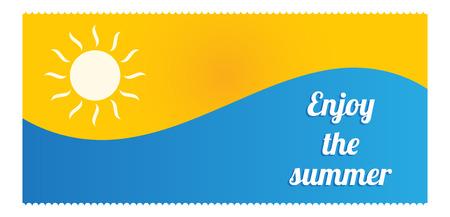 resizable: summer flyer design Illustration