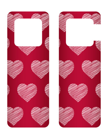 door tags: door tags with Valentines day design