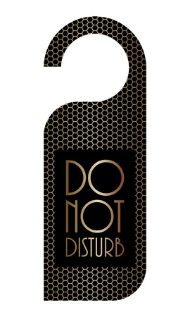 do not disturb sign: please do not disturb sign with metallic grid design