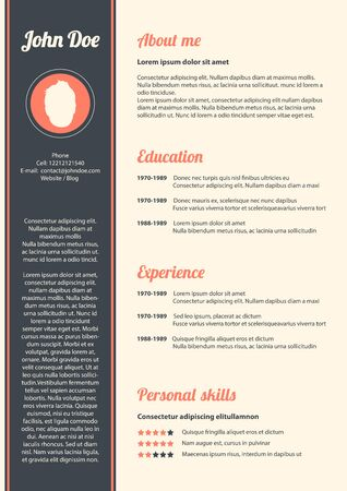 curriculum vitae: Curriculum vitae with special modern design, vector, eps10 Illustration