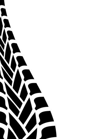huellas de llantas: blanco negro neumático pista de fondo Vectores