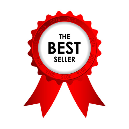 top seller: red vector best seller badge