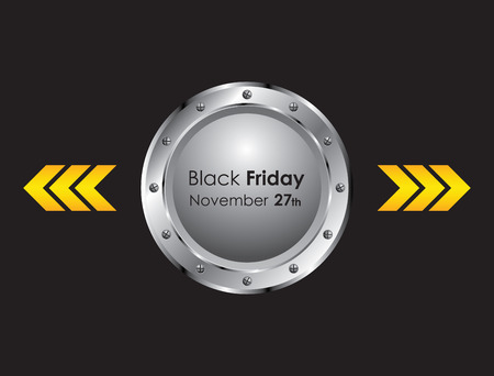 metallic: black friday background with metallic design Stock Illustratie