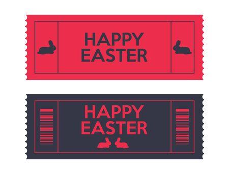 admit: admit one Easter tickets Illustration