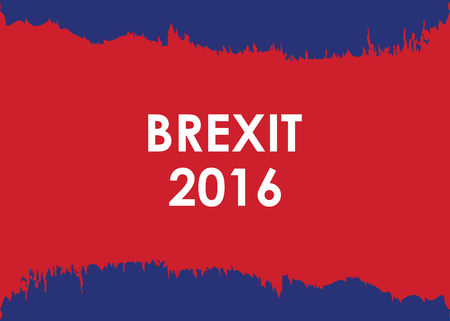 england politics: abstract brexit 2016 banner