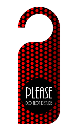 to disturb: do not disturb red dotted door hanger, design Illustration
