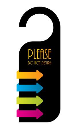 door hanger: do not disturb door hanger, design Illustration