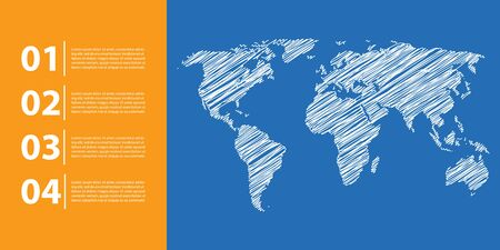 worldmap: business background with world map, business infographics