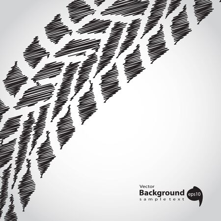 abstract tire background, sketch design Illustration