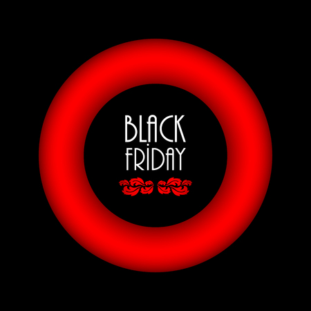 black friday abstract background, advertising banner with special design Illustration