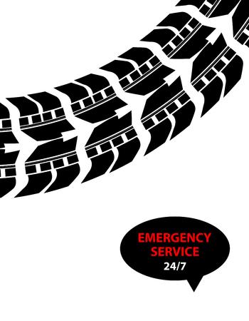 tread: emergency service background