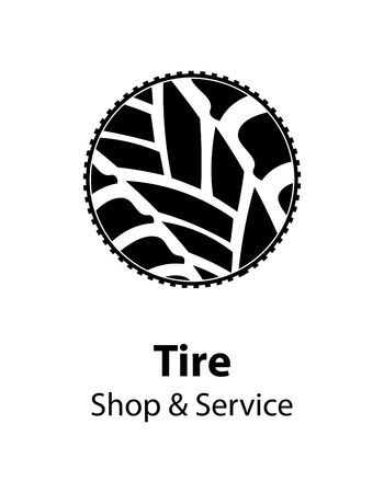 winter tires: tire shop and service background