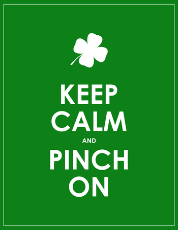 keep calm and carry on: keep calm banner for St. Patricks day Illustration