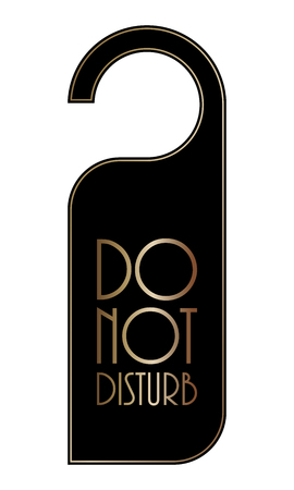 do not disturb door hanger, special black-gold design Illustration