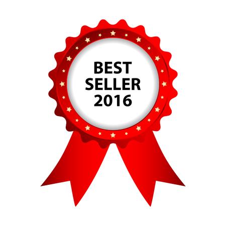 special red badge, best seller 2016 promotional label