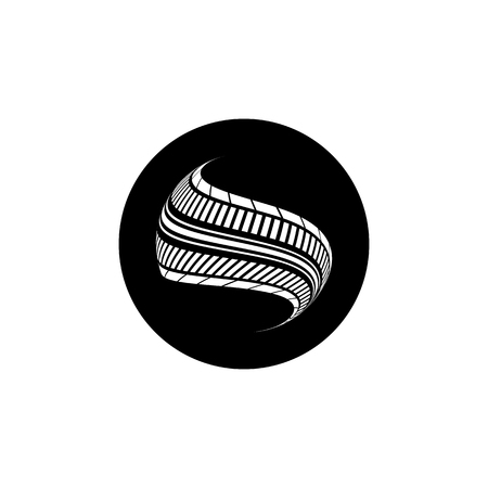 skidding: abstract background, tire design, vector,eps10