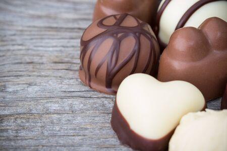 patisserie:  chocolate pralines, white and dark chocolate truffles