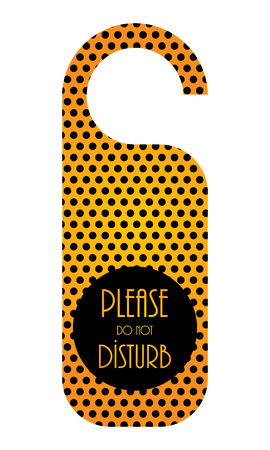 do not disturb hotel door knob, door hanger with special design