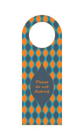 Do not disturb hotel door hanger with special design