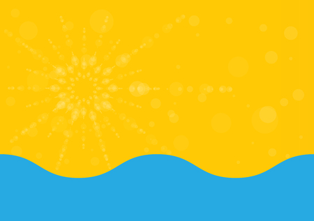 beach sunset: Summer holiday abstract background, energy, relax and spa.