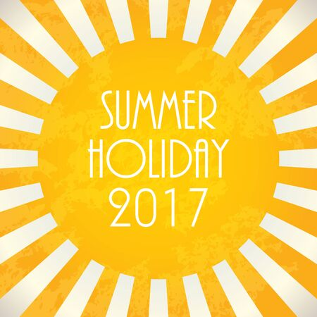 Summer background - 2017, vector illustration, EPS10 Illustration