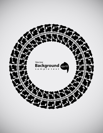 lorries: tire track abstract background, transportation design