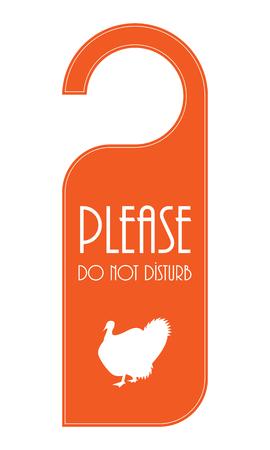 special door knob for thanksgiving day Illustration