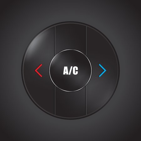 Special conditioner and air flow control button design for modern cars.