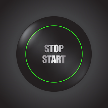 special stop-start engine button Imagens - 95039531