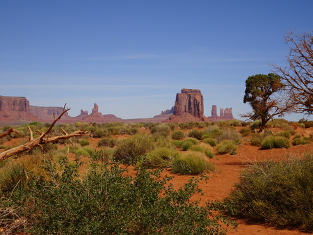 Monument Valley at the Navajo Reserve, Utah, USA