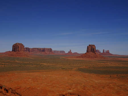 Monument Valley at the Navajo Reserve, Utah, USA