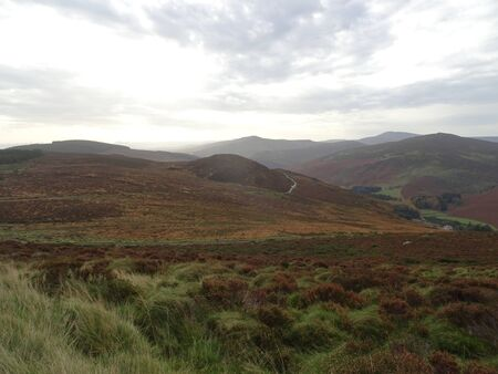 Outlook of the Wicklow Mountains near Dublin in Ireland, Europe