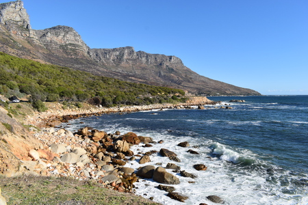 Landscape with the famous 12 Apostles from Hout Bay in Cape Town, South Africa