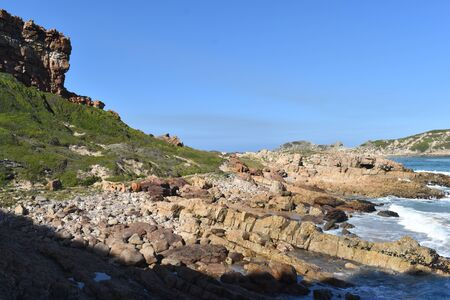 Wonderful landscape at the Robberg Nature Reserve at Plettenberg Bay, South Africa 스톡 콘텐츠 - 133416191