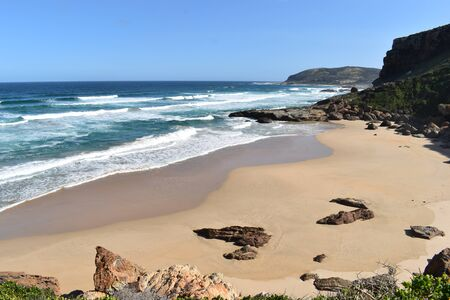 Wonderful landscape at the Robberg Nature Reserve at Plettenberg Bay, South Africa 스톡 콘텐츠 - 133416192