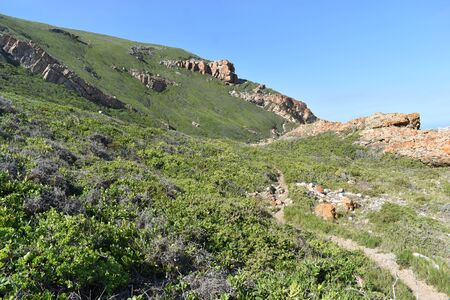 Wonderful landscape at the Robberg Nature Reserve at Plettenberg Bay, South Africa 스톡 콘텐츠 - 133416215