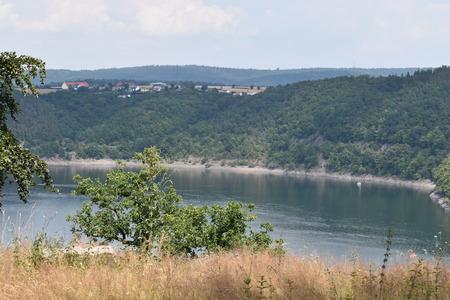 Beautiful panorama at Lake Edersee in Germany Stok Fotoğraf