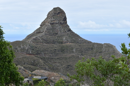 Big Mountain? Matterhorn of Tenerife? at the Mirador Fuente de Lomo at Taborno in the north of Tenerife, Europe